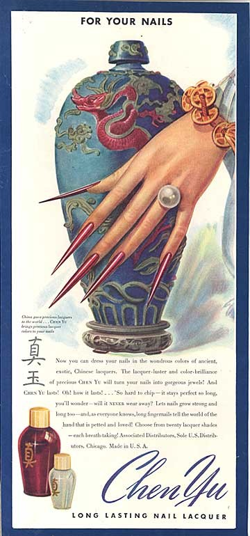 trends nails makeup history 2  A History of Nail Lacquer: Blood Red Nails On Your Fingertips