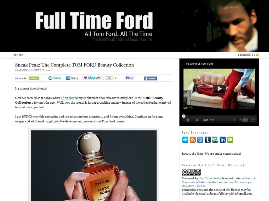 tom ford makeup beauty  Sneak Peak: The Complete TOM FORD Beauty Collection