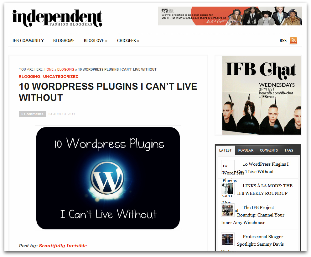wordpress ifb guest post blog improvement  10 Wordpress Plugins I Cant Live Without on IFB... PLUS 8 more! 