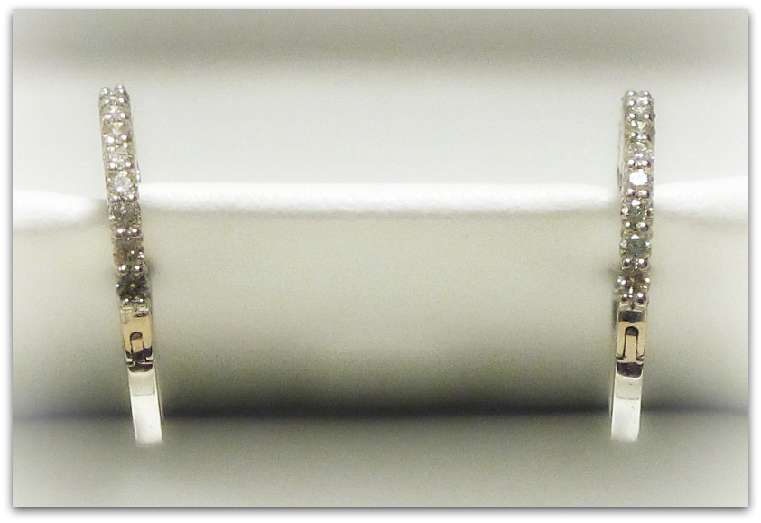 review jewelry accessories  A Girls Best Friend: Anjolee Diamond Hoop Earrings